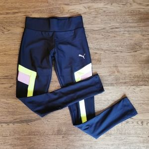 NWT Puma Neon Colorblock Chase Leggings XS
